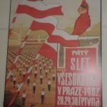 Plakát všesokolského sletu