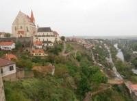 Pohled na Znojmo a Dyji z hradu