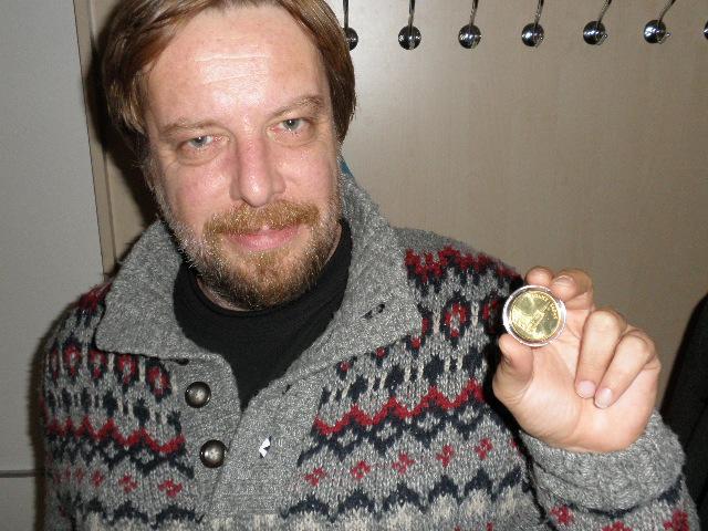 Šťastný držitel pamětní medaile